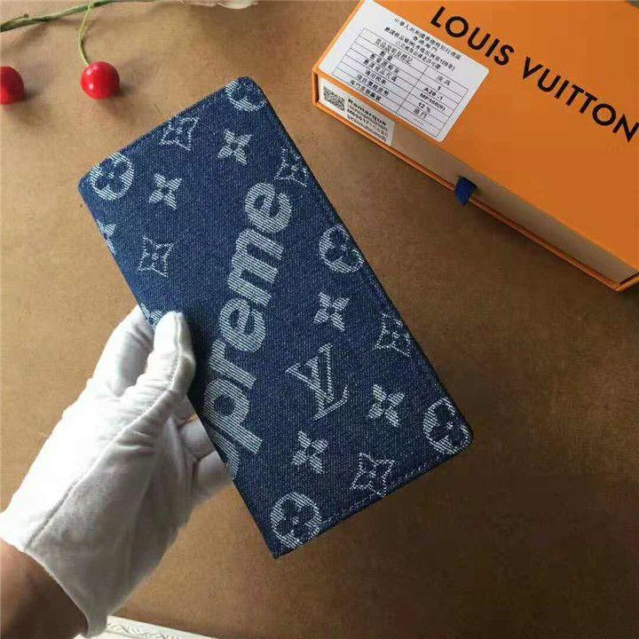 newest collection 73cf4 b0aa3 ブランド ルイヴィトン シュプリーム 財布 デニム素材でオシャレ ...