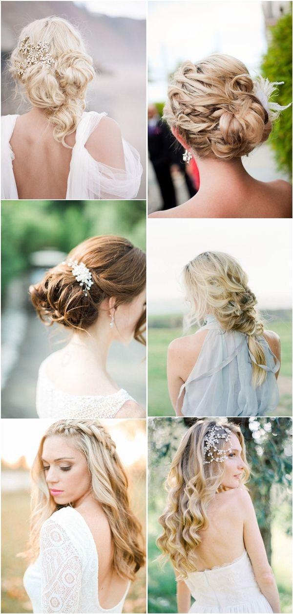 long wavy wedding bridal hairstyles