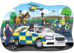"Orchard Toys ""Big Police Car- Polizei Auto"" (Floor Puzzle)"