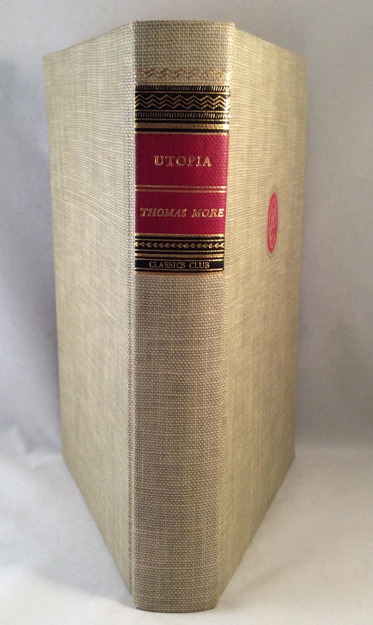Vintage 'Utopia' Classics Club Book by Thomas More  - Published by Walter J. Black, Inc. 1947 by CMJsTreasures on Etsy