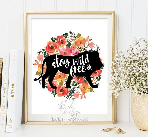 Hey, I found this really awesome Etsy listing at https://www.etsy.com/listing/221813499/stay-wild-and-free-print-typographic