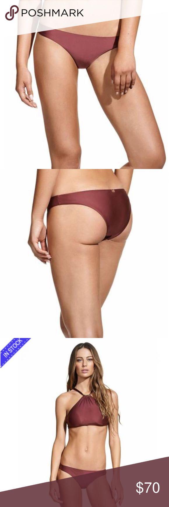 Burgundy Basic Bottoms brand new Vix Swim
