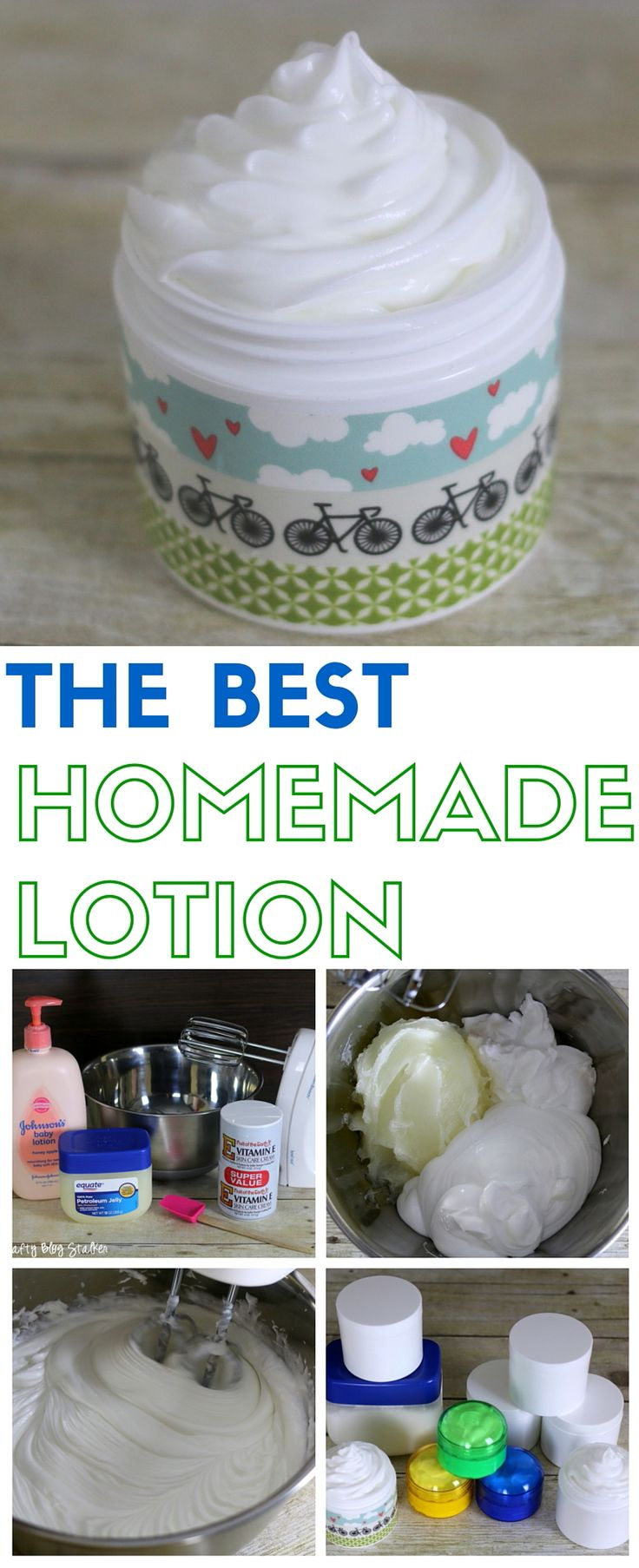Homemade lotion is easier to make than you may think. This moisturizer makes my skin so soft and eliminates dry, flaky skin and recipe is easy to follow. A simple DIY beauty idea. Handmade Gifts