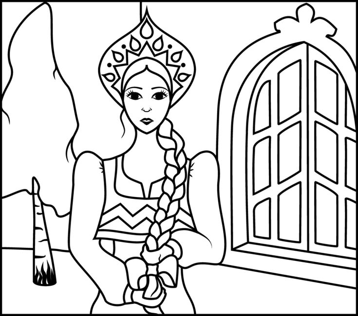 Russian Princess Coloring Pages : Images about around the world on pinterest
