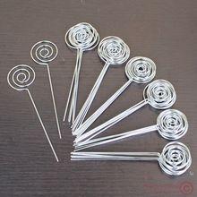 Lotto 50 pz fai da te anello loop circle forma filo mestiere immagine e promemoria e note e foto e scheda di supporto clip, argilla all'ingrosso e torta di accessori di fissaggio(China (Mainland))