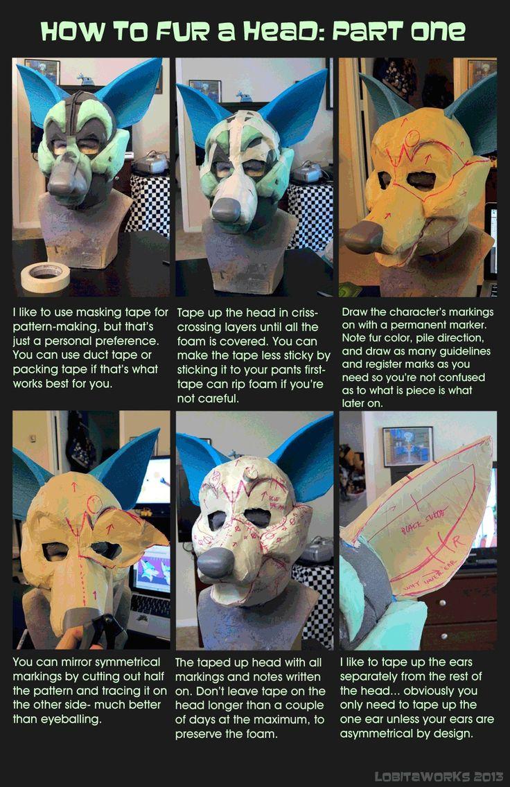 How To Fur A Suit Head Pt 1
