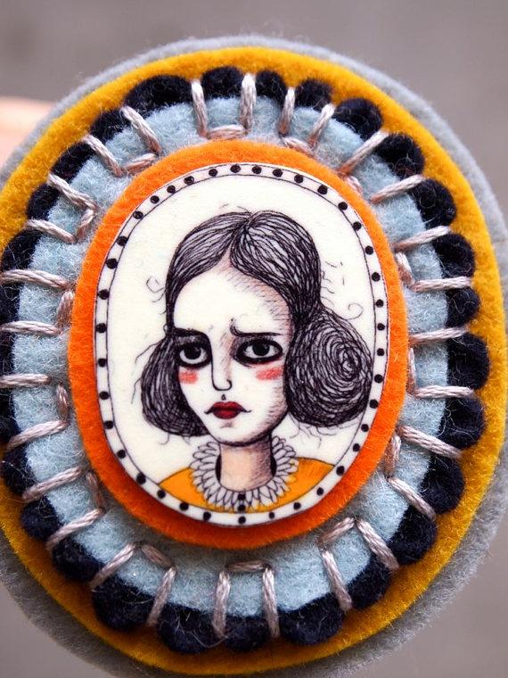 felt brooch by Jessica Quinn