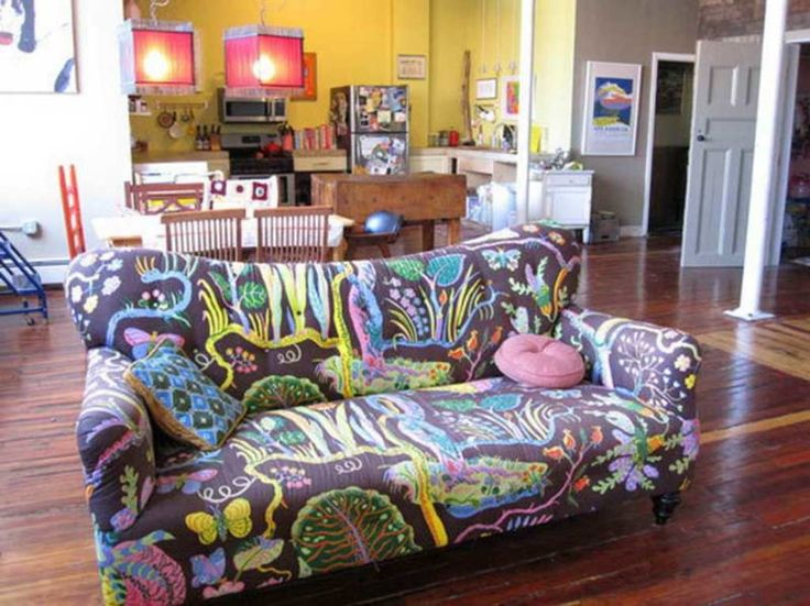 Funky Living Room Furniture : Creative Furniture For Your Living Room : Divine Colorful Living Room Decoration Using Colorful Abstract Living Room Sofa Including Yellow Orange Living Room Wall Paint And Funky Living Room Furniture