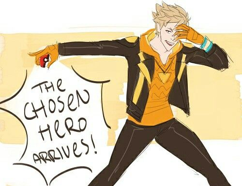 Pokemon Go meets Fire Emblem. Spark does look a lot like Owain