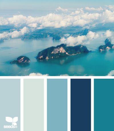 aerial blues - the perfect color palette for a little boy's room!