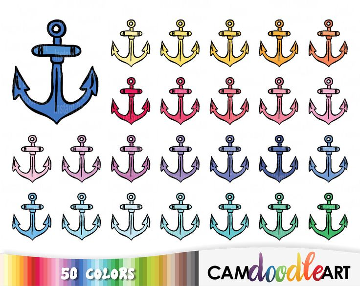 50 Doodle Anchors, Doodle Clipart, Anchor Clipart, Hand Drawn Clipart, Nautical, Summer Beach, Planner Clipart, Sticker Clipart, png file by CamDoodleArt on Etsy