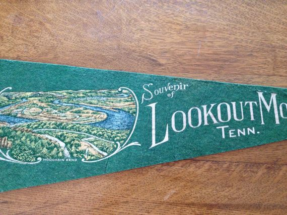Vintage Lookout Mountain Felt Pennant 1950's by AStringorTwo, $22.00