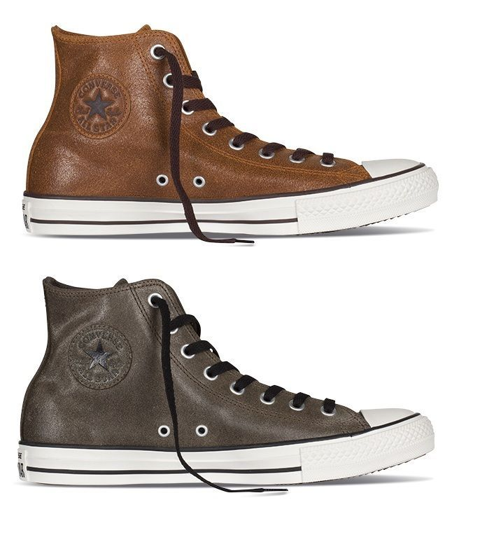 New Converse Chuck Taylor All Star brown green leather HI Men unisex Shoes #Converse #AthleticSneakers men's 5/ ladies 7