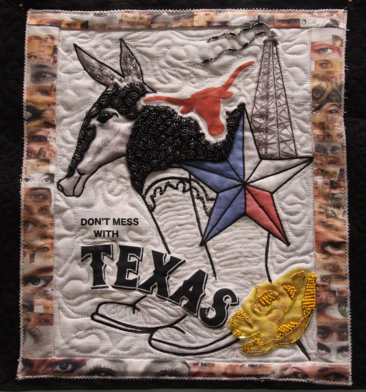 """""""The Eyes of Texas Are Upon You"""" quilt by Kathy Zieben 2014"""