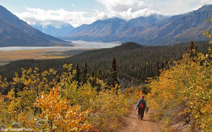Hiking in Kluane National Park, Yukon