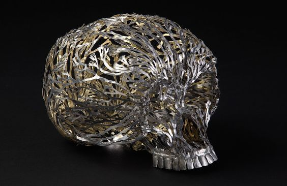 """MEMENTO MORI - On ageing, awakening and extinction.  Sculpture by Fiona Hall, """"Out of my Tree"""", 2014"""