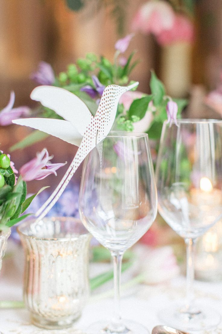 Beautiful unique table stationery decoration by Eagle Eyed Bride. Luxury Wedding Inspiration From The Corinthia Hotel in London. Flowers by Amie Bone Flowers. Image by Roberta Facchini.- ROCK MY WEDDING | UK WEDDING BLOG