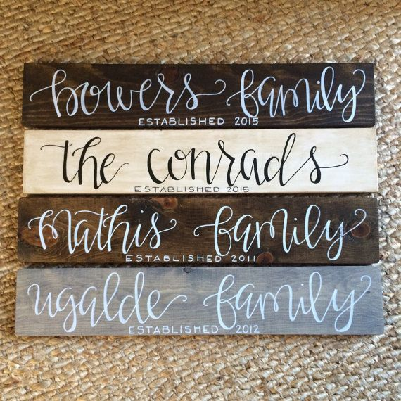 Family Established Wood Sign Personalized by HandcraftedBrunette