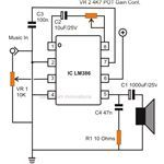 Simple Small Audio Amplifier Circuit Diagram Using IC LM386