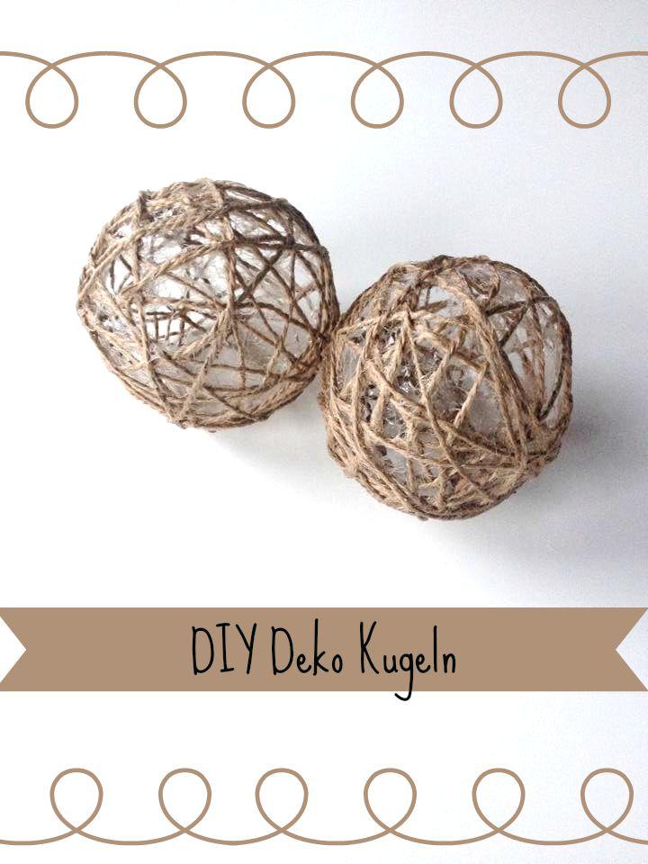 Tolle Dekokugeln DIY - mit Bast oder Schnur und jede Menge Kleister