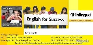 Inlingua Banglaore English Programs are targeted towards improving all levels of Launguage  fluency, from the beginner levels to the more advanced levels.