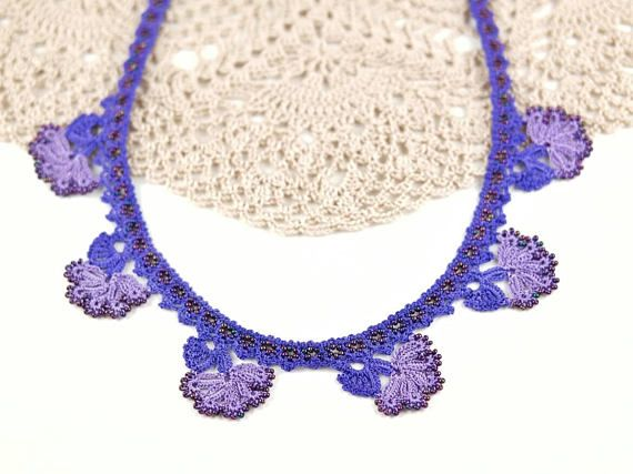 Check out this item in my Etsy shop https://www.etsy.com/listing/572097738/necklace-bohemian-purple-floral-beaded