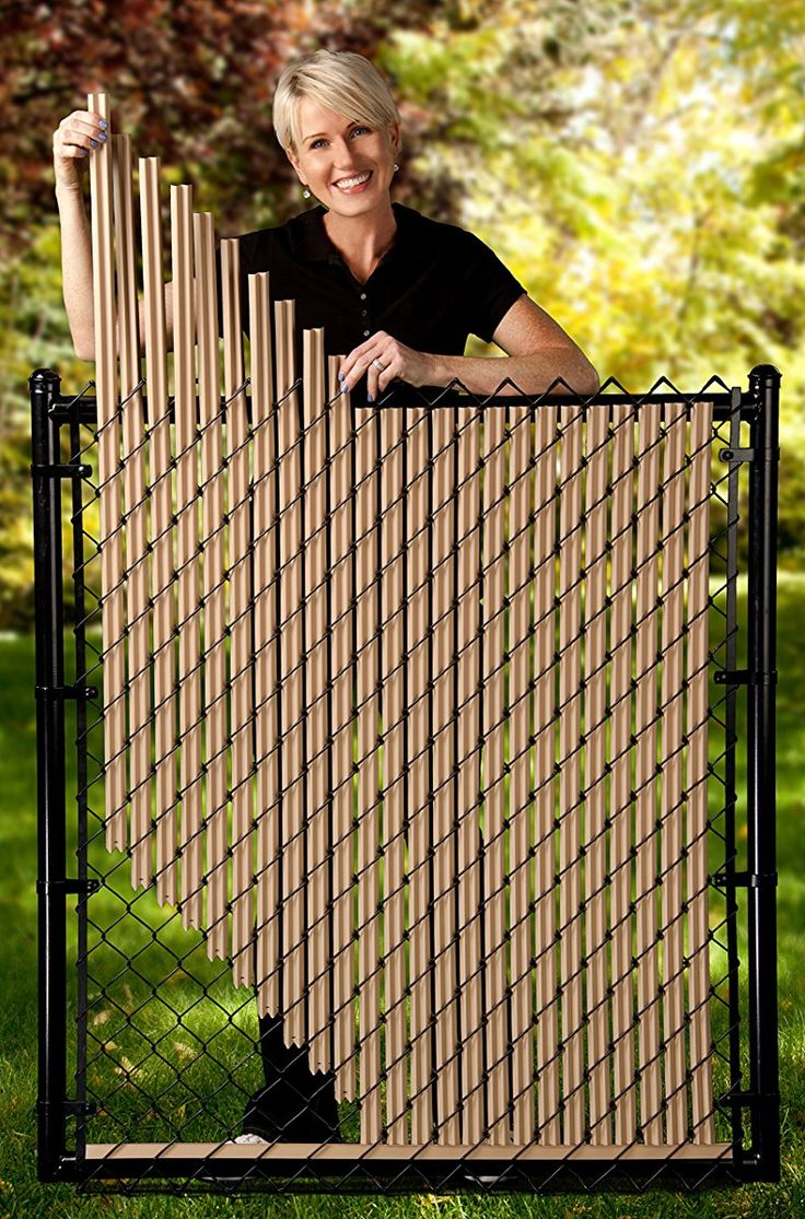4ft Beige Ridged Slats For Chain Link Fence Chain Link