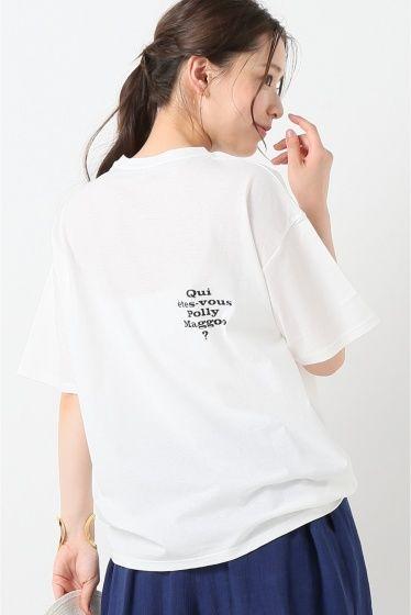 POLLY BIG シルエットTシャツ  POLLY BIG シルエットTシャツ 10260 2016AW IENA IENAブランド設立25周年を記念して60年代パリのファッションシーンを描いた映画ポリーマグーお前は誰だとのコラボアイテム ワイドシルエットで肩のラインを華奢に見せてくれるデザイン シャリ感のある綿100の素材はさらりとした肌触りです 内側に入れた黒いラインとバックに入ったPollyMaggooのロゴは モノクロ映画らしい白と黒のコントラスト さりげなくポイントになります 取り扱いについては商品についている品質表示でご確認ください こちらの商品はIENAでの取り扱いになります 直接店舗へお問い合わせの際はIENA店舗へお願い致します モデルサイズ:身長:168cm バスト:80cm ウェスト:56cm ヒップ:84cm 着用サイズ:フリー