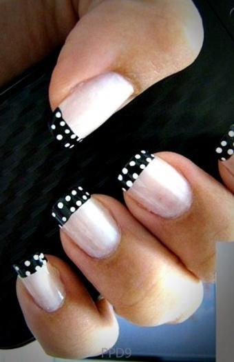 Black Pink Manicure Nail Art | PopularDesign9.com