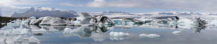 Jökulsárlón, Iceland, is a large glacial lagoon in southeast Iceland, on the borders of Vatnajökull National Park.