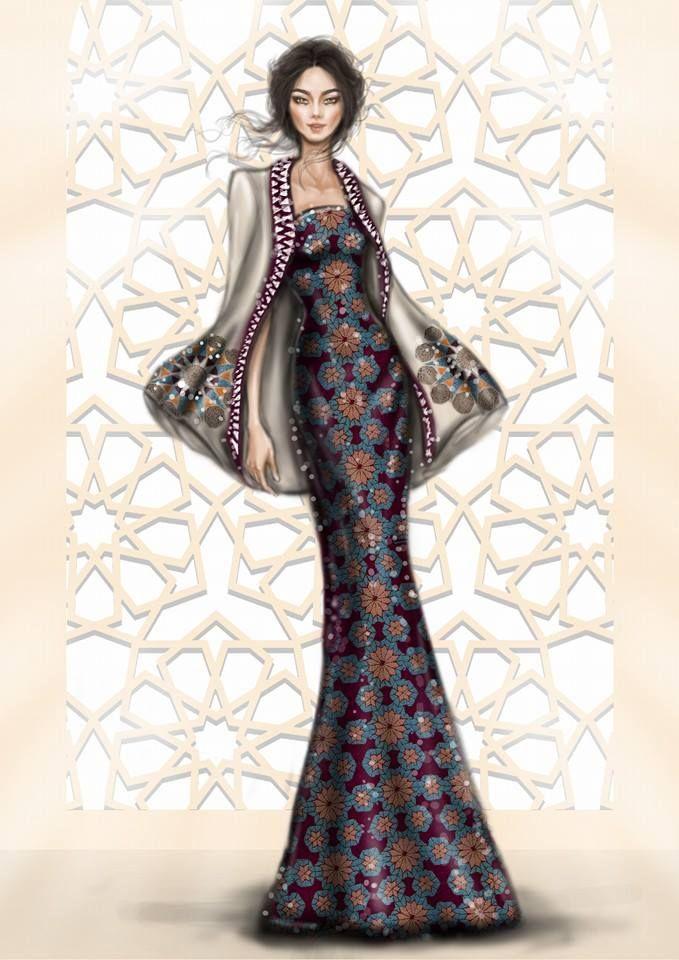Иорданский архитектор и иллюстратор Шамех Блуви (Shamekh Bluwi) создал серию замечательных женских силуэтов, вырезанных из бумаги. Расцветка нарядов нарисованных моделей зависит от фона, который любой желающий может выбрать по своему вкусу. Иллюстрации не только прекрасны сами по себе, но и являются замечтательным инструментом для вдохновения и создания новых расцветок для тканей.