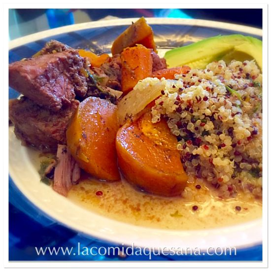 Delicioso Estofado de Res con Camotes y Zanahorias - (con la olla de cocción eléctrica, slow cooker ó crock pot)
