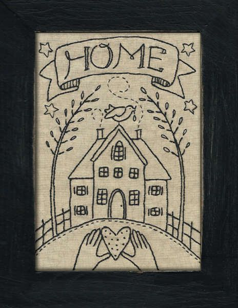 vintage style sampler - embroidery pattern