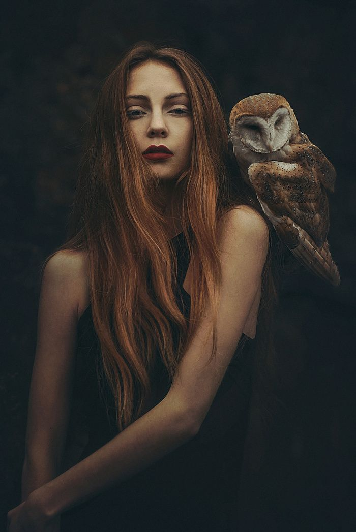 photo by Rosie Hardy - portrait with a owl