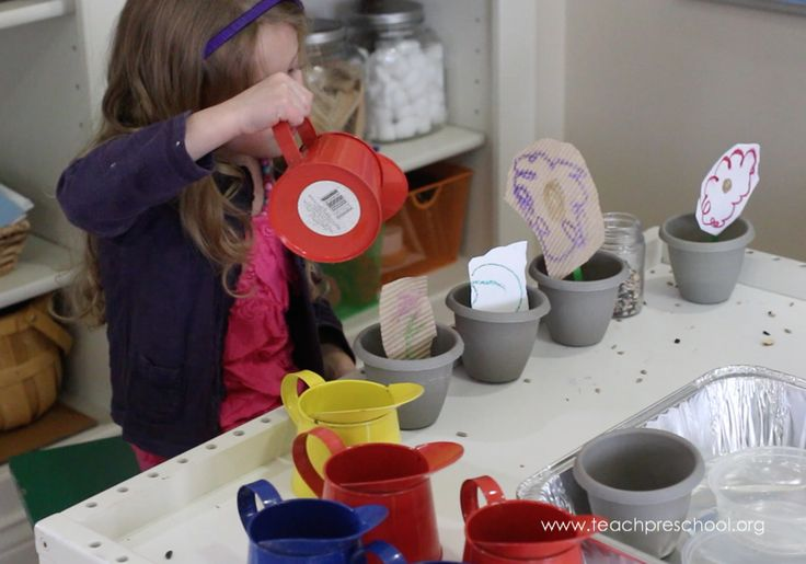 Planting our beautiful flowers in play dough – Teach Preschool