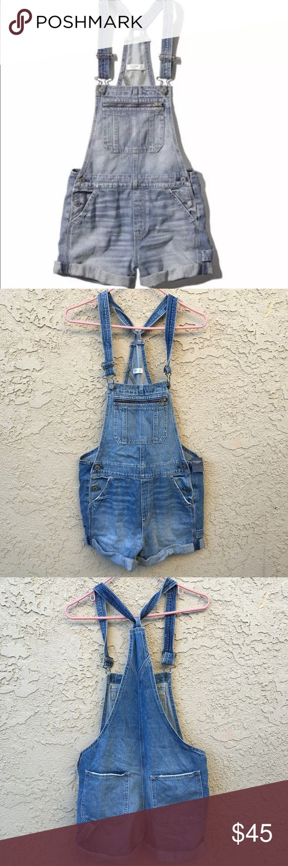 Abercrombie and Fitch short overalls Nwt size xs 🚨 NO TRADES!  OFFERS WELCOME !  •Please use the offer button for any offers  •No low balling !  •Everything cheaper thru merc, vinted, & fashion stash .  •Bundle and automatically save 10% Abercrombie & Fitch Shorts