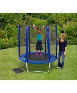 Plum 6ft Trampoline and Enclosure - Blue.