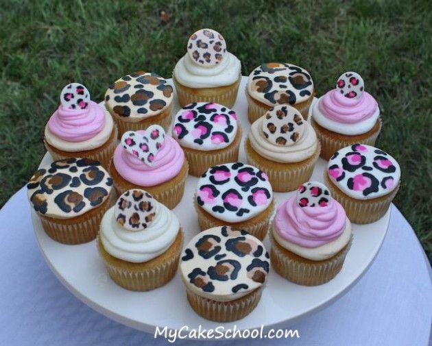 cheetah print cupcake- how to