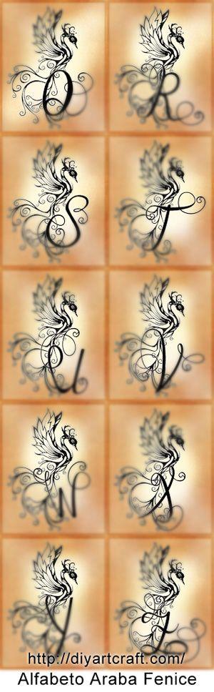 Oltre 25 fantastiche idee su fenice su pinterest fenice for Idee tatuaggi lettere