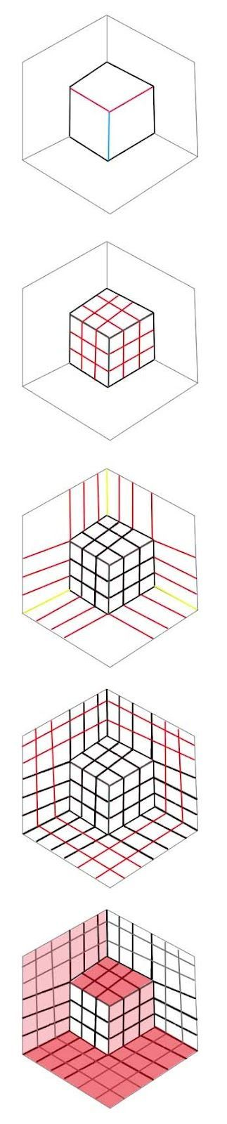 artisan des arts: Optical illusion cube - tutorial