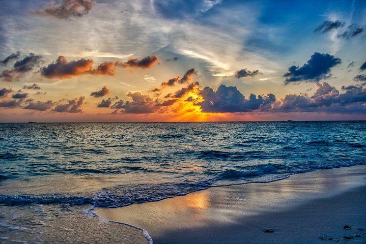 Imagen Gratis En Pixabay Playa Oceano Puesta De Sol Puestas De Sol Fondos De Pantalla Atardecer Playas Tropicales