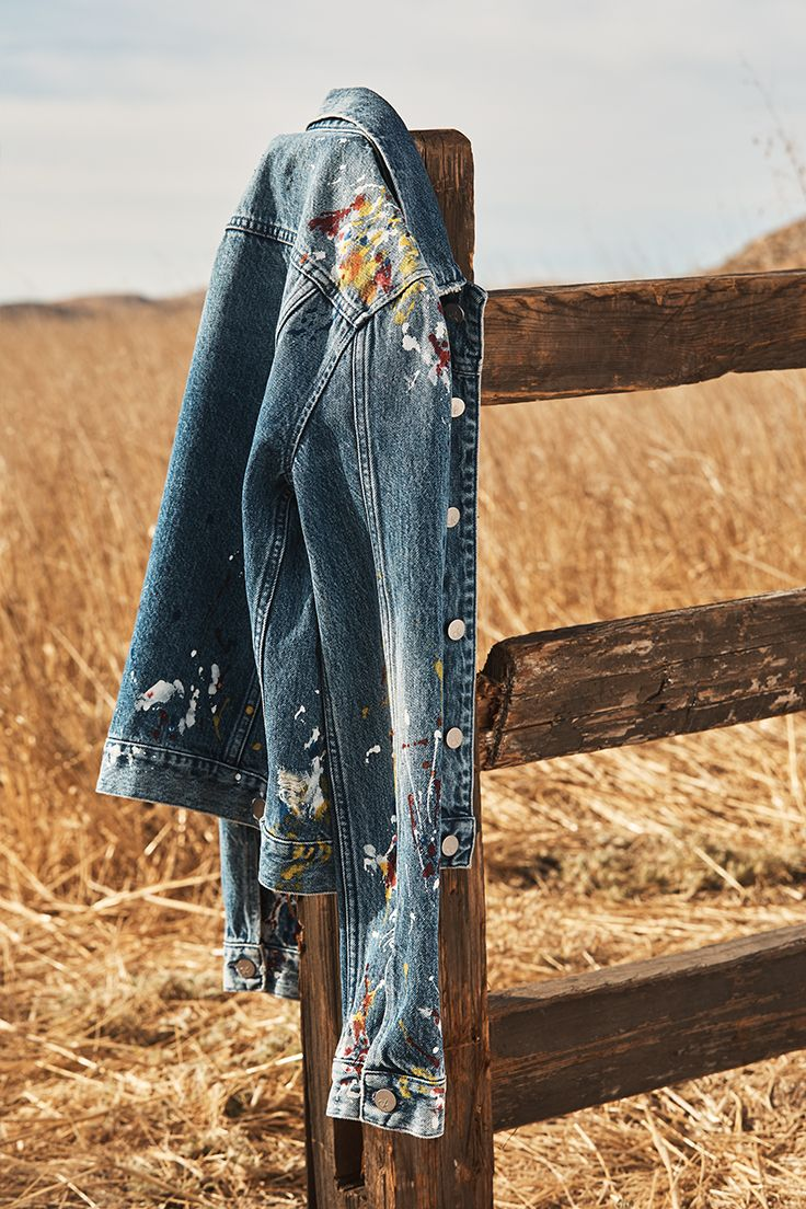 Spring S Calvin Klein Jeans Archival Inspired Denim Comes Artfully Washed And Splatter Painted Mycalvins Painted Denim Denim Fashion Denim Outfit Men [ 1104 x 736 Pixel ]