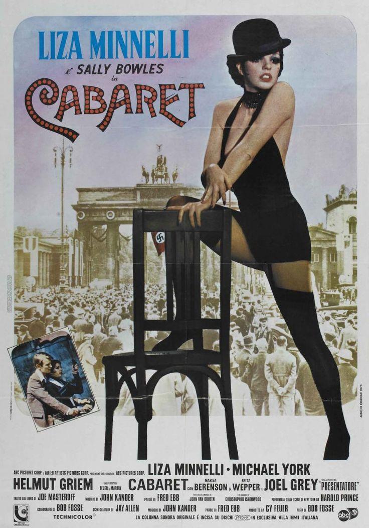 Cabaret (1972) Director: Bob Fosse - Berlín, años 30. El partido nazi domina una ciudad donde el amor, el baile y la música se mezclan en la vida nocturna del Kit Kat Club. Un refugio mágico donde la joven Sally Bowles y un divertido maestro de ceremonias hacen olvidar las tristezas de la vida. TEMA LGBT **