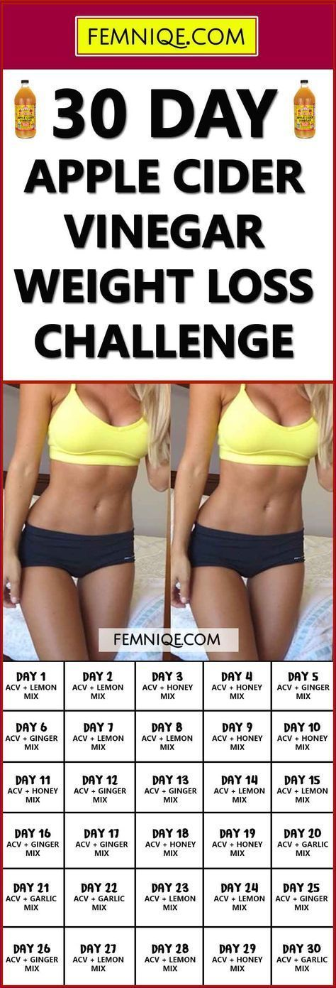 30 Day Apple Cider Vinegar Weight Loss Challenge