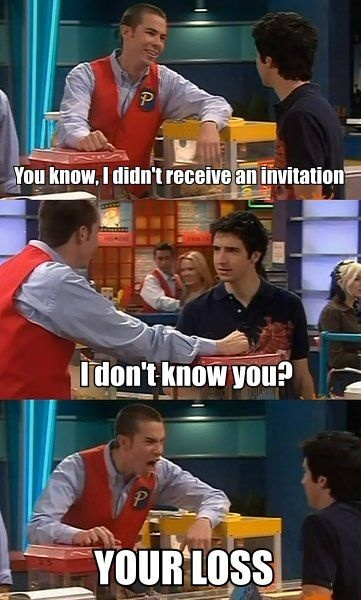 I watched Drake and Josh this weekend...I had forgotten how funny Crazy Steve was!