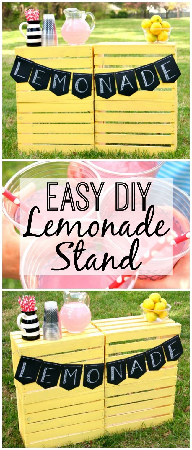 3 Easy Diy Storage Ideas For Small Kitchen: Super Easy DIY Lemonade Stand