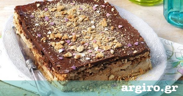 Εύκολο μπισκοτογλυκό ψυγείου από την Αργυρώ Μπαρμπαρίγου | Ένα καταπληκτικό γλυκό ψυγείου με μπισκότο, μπανάνες, κρέμα και σοκολάτα. Φτιάξτε το όλοι!