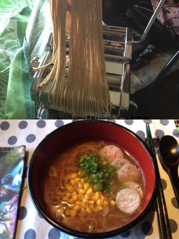 Miso Ramen with anise saucisson Home made noodle and broth