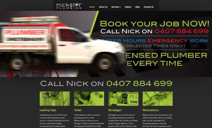Check out our super fun plumbing website for none other than Nickstar Plumbing! Be sure to check out the tradies vehicle slider transition.. kinda cute we think!