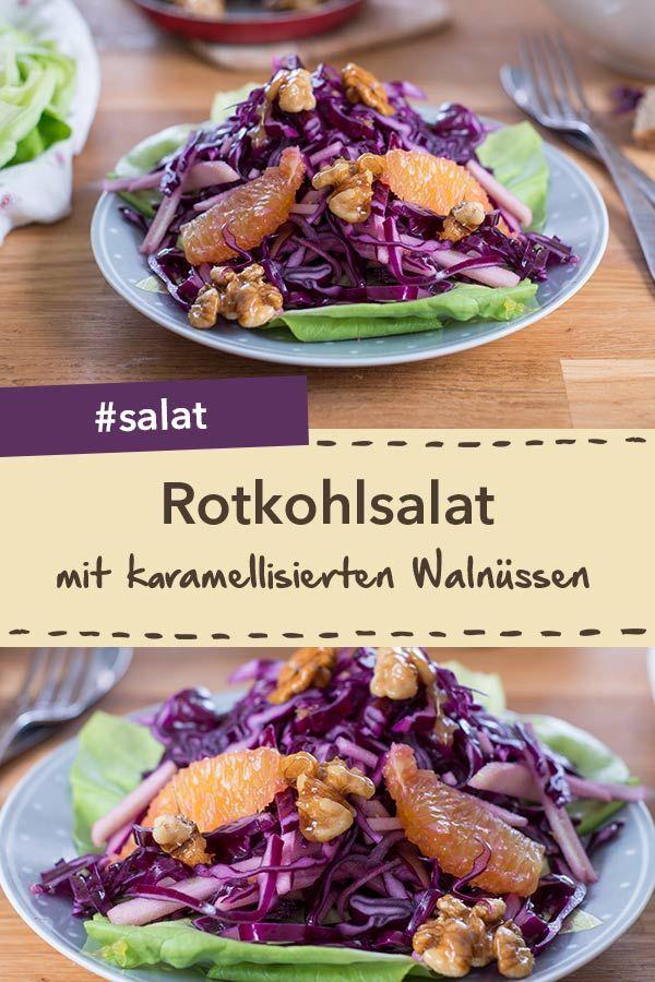 Für die Weihnachtszeit: Rotkohlsalat mit karamellisierten Walnüssen ...